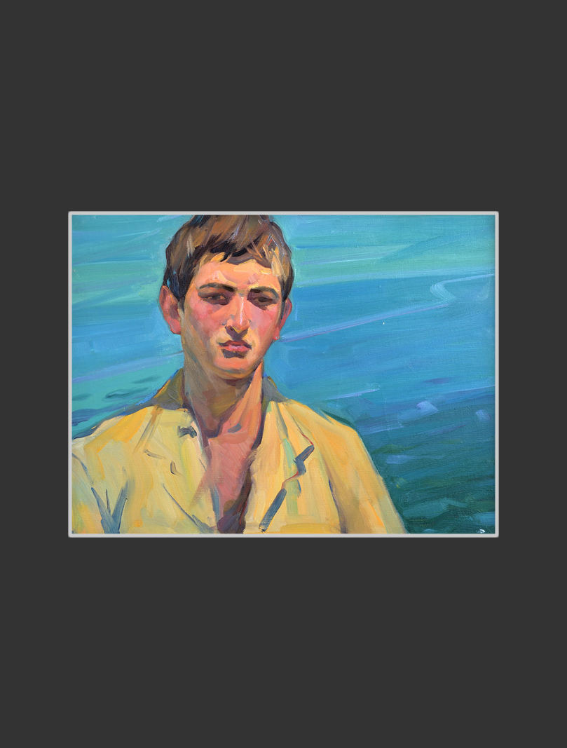 Portrait of a young man at Sevan
