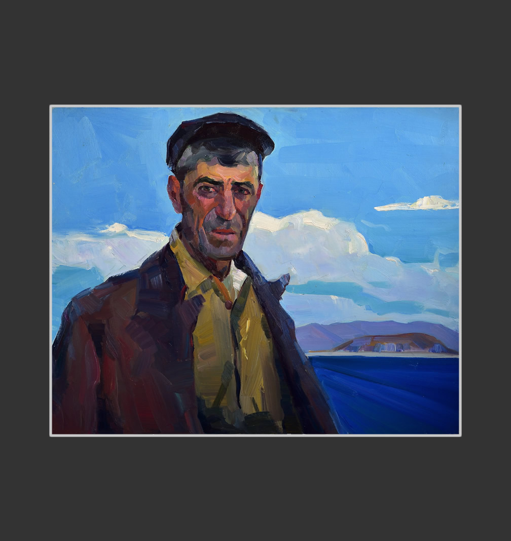 Portrait of the helmsman Nushervan at Sevan
