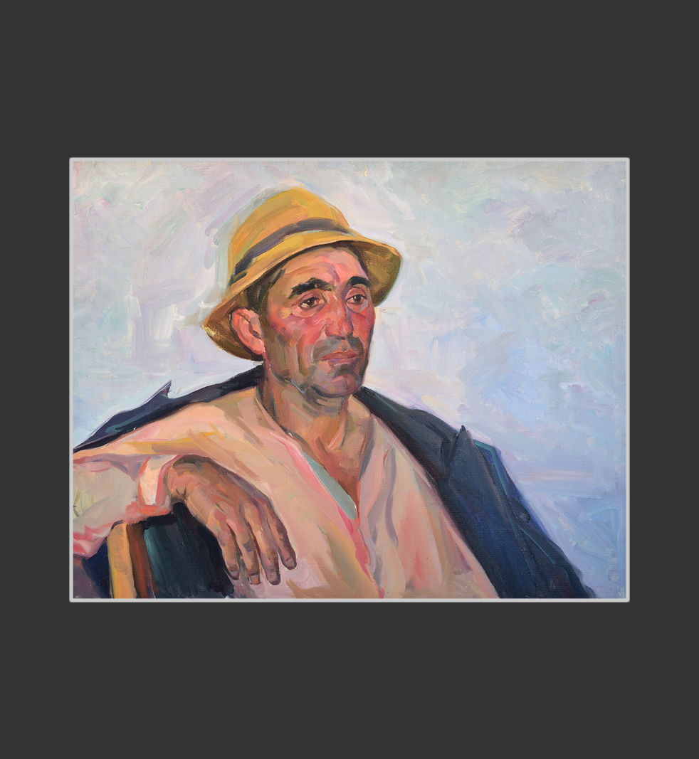 Portrait of the collective farm worker Andranik