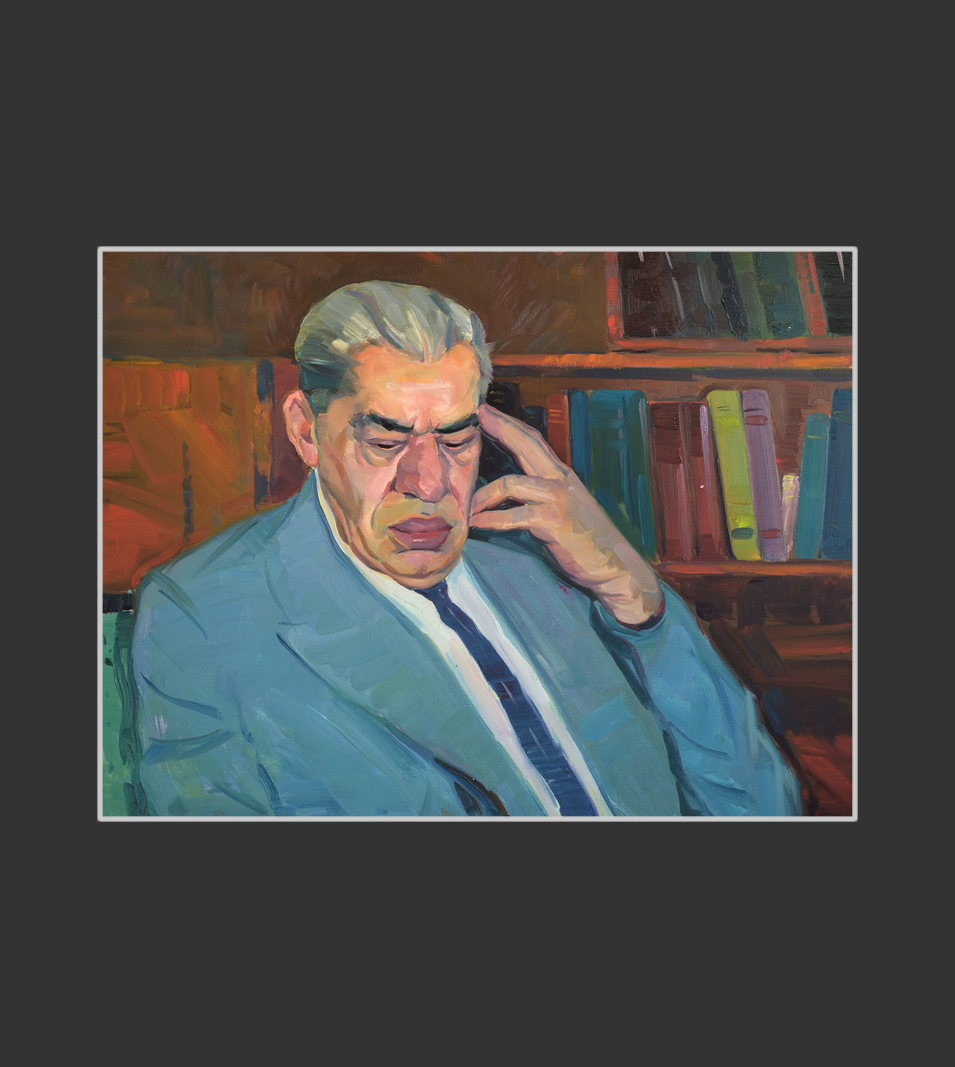 Portrait of the editor Vache Harutyunyan