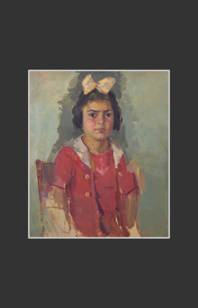 Incomplete portrait of a girl