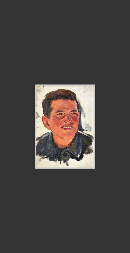Incomplete portrait of a young man at Sevan