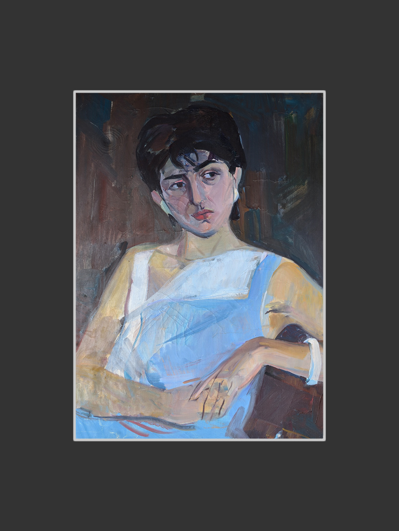 Incomplete portrait of Gayane (the last work on the easel)