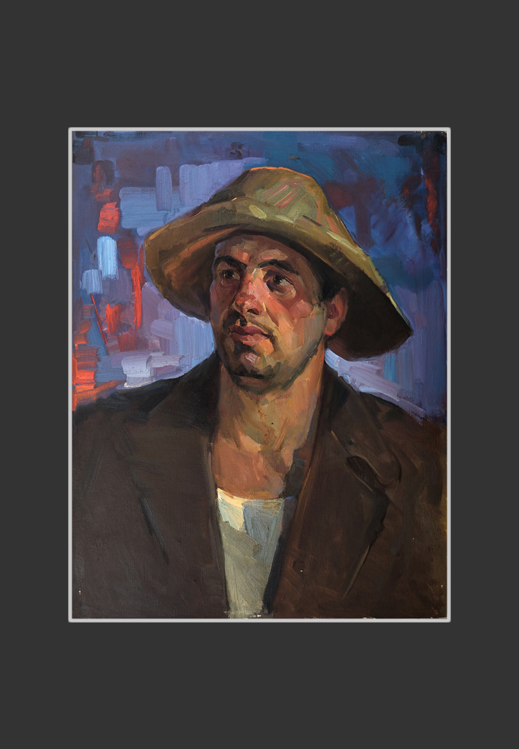 Portrait of the worker of Alaverdi Factory Karlen Khachatryan